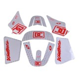 DC White Graphic Decal Stickers Set 3M for Yamaha PW50 PW 50 50cc