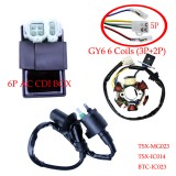 GY6 150 Magneto Stator Coil CDI Box Ignition Coil 150cc Stock ATV Go Kart NEW