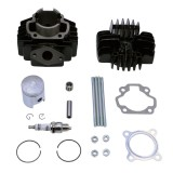 FOR YAMAHA PW50 PW 50 Cylinder Piston Gasket Top End Kit with Spark Plug