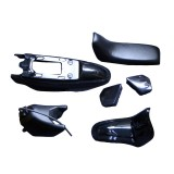 Plastic Seat Gas Tank Body Fenders Kit for Yamaha PW50 PY50 PW 50 Black