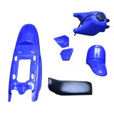 For Yamaha PW50 PY50 PW 50 Plastic Fender Body Seat Gas Tank Kit Blue