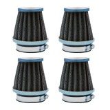4X 54mm Universal Motorcycle Pod Air Filter For Honda Yamaha Suzuki Kawasaki